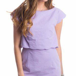 Lauren James Sullivan Seersucker Dress S M 6 8